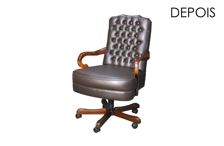 Cadeira presidente em capitone